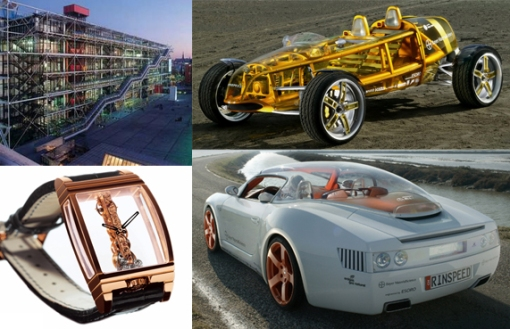 Georges Pompidou, Rinspeed Exaxis, Rinspeed Zazen, and Corum Golden Bridge
